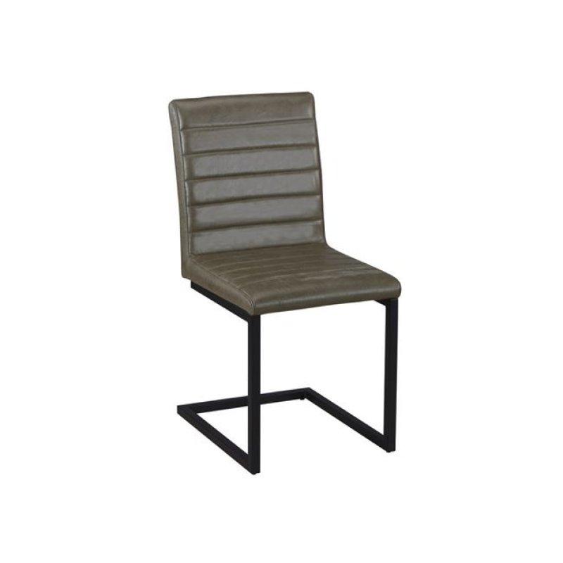 """Καρέκλα """"ALTO"""" μεταλλική-υφασμάτινη σε χρώμα vintage πράσινο 54x59x86"""