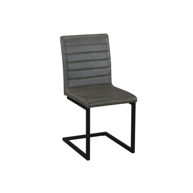 """Καρέκλα """"ALTO"""" μεταλλική-υφασμάτινη σε χρώμα vintage γκρι 54x59x86"""
