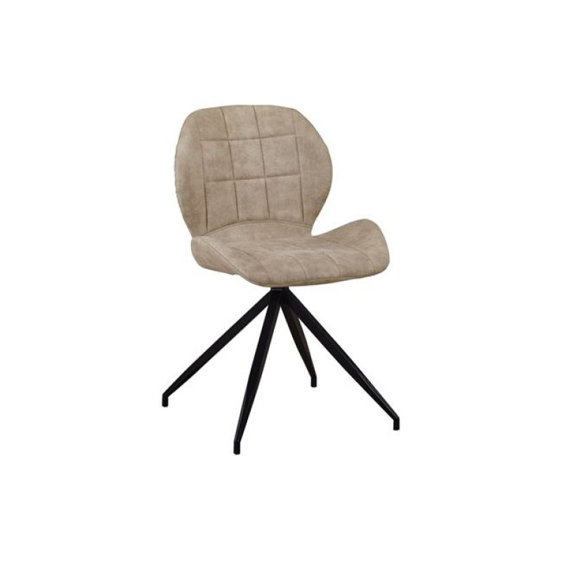 """Καρέκλα """"NORMA"""" μεταλλική-υφασμάτινη σουετ σε μπεζ χρώμα 51x53x81"""