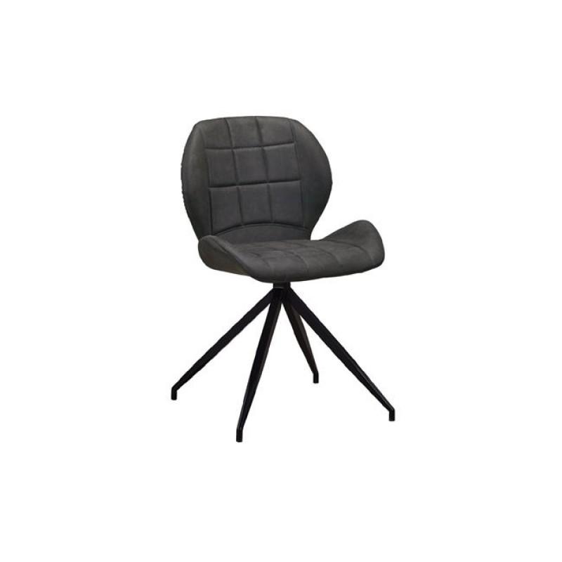 """Καρέκλα """"NORMA"""" μεταλλική-υφασμάτινη σουετ σε ανθρακί χρώμα 51x53x81"""