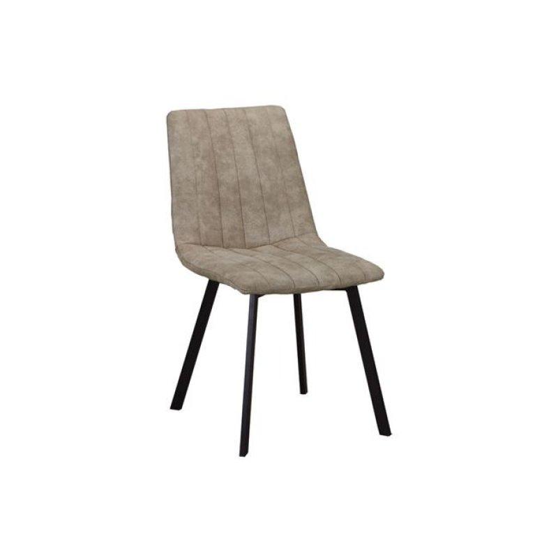 """Καρέκλα """"BETTY"""" μεταλλική-υφασμάτινη σουετ σε μπεζ χρώμα 45x60x87"""