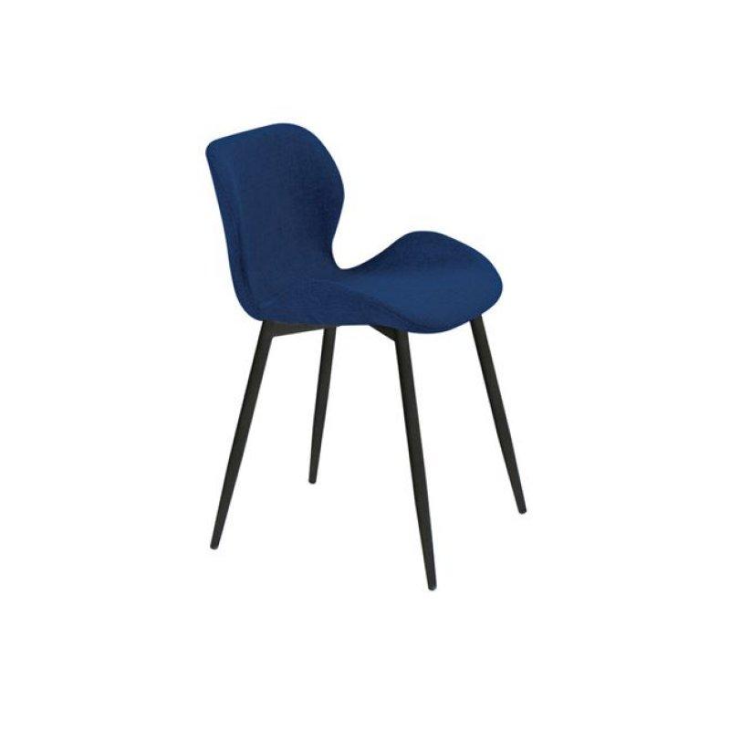 """Καρέκλα """"LILIAN"""" μεταλλική-υφασμάτινη σε μπλε χρώμα 46x48x75"""