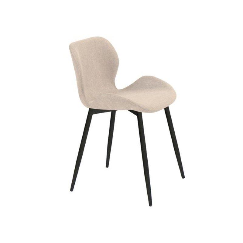 """Καρέκλα """"LILIAN"""" μεταλλική-υφασμάτινη σε sand χρώμα 46x48x75"""