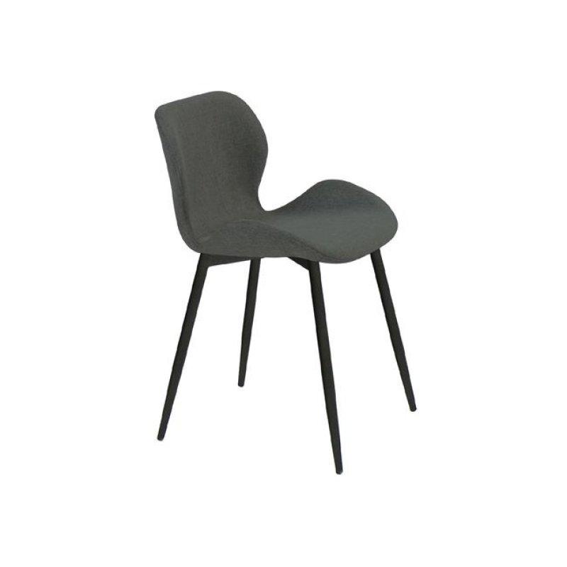 """Καρέκλα """"LILIAN"""" μεταλλική-υφασμάτινη σε σκούρο γκιρ χρώμα 46x48x75"""