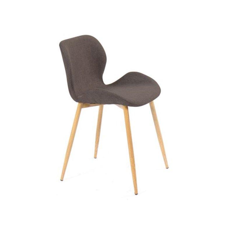 """Καρέκλα """"LILIAN"""" μεταλλική-υφασμάτινη σε φυσικό-καφέ χρώμα 46x48x75"""