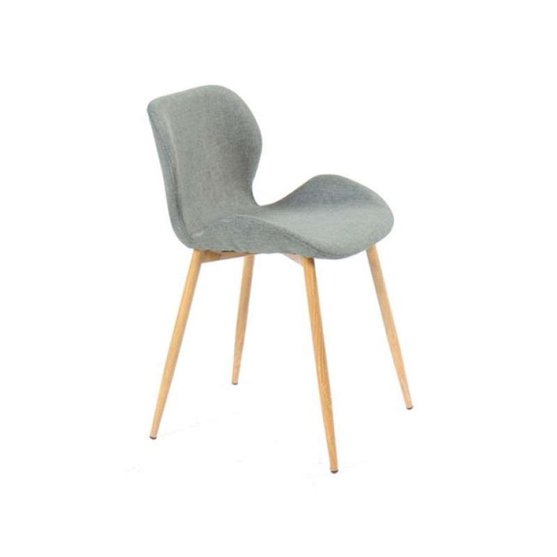 """Καρέκλα """"LILIAN"""" μεταλλική-υφασμάτινη σε φυσικό-γκρι χρώμα 46x48x75"""