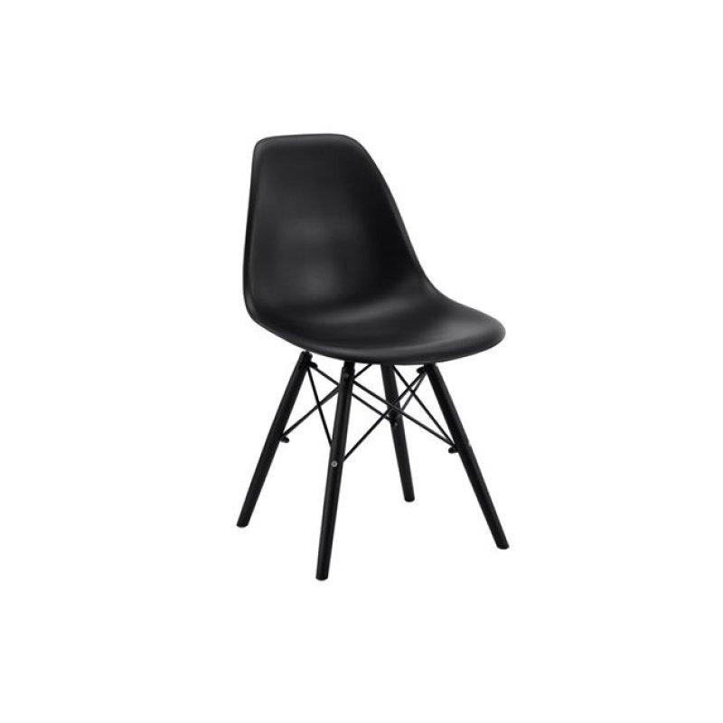 """Καρέκλα """"ART"""" από pp σε χρώμα μαύρο 46x55x82"""