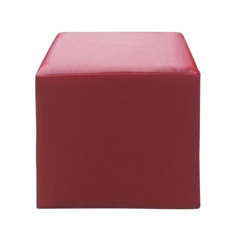 """Σκαμπώ βοηθητικό """"CLUB"""" από τεχνόδερμα σε κόκκινο χρώμα 37x37x42"""