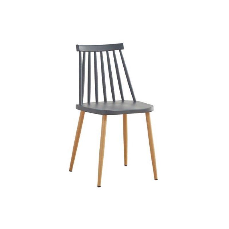 """Καρέκλα """"LAVIDA"""" μεταλλική-pp σε ανθρακί χρώμα 42x46x80"""