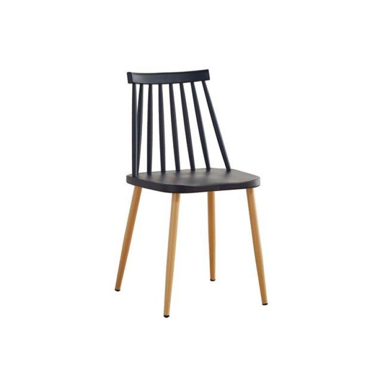 """Καρέκλα """"LAVIDA"""" μεταλλική-pp σε μαύρο χρώμα 42x46x80"""