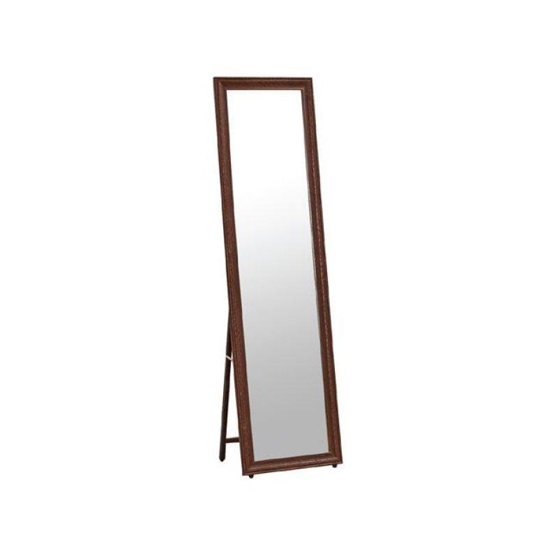 """Καθρέπτης δαπέδου """"MIRROR"""" σε χρώμα καρυδί 40x2,50x148"""