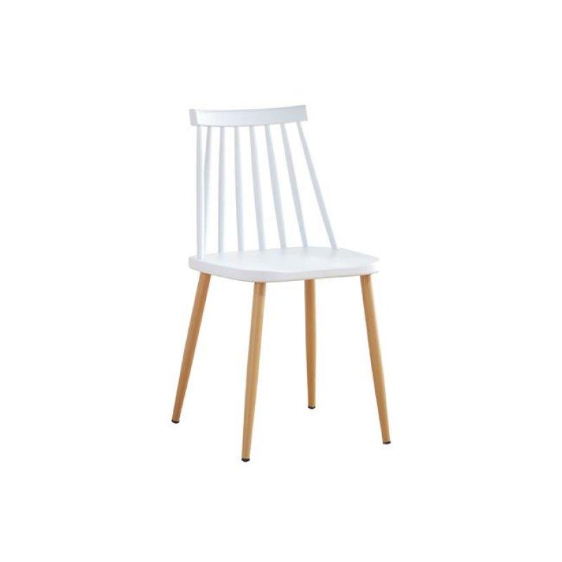 """Καρέκλα """"LAVIDA"""" μεταλλική-pp σε λευκό χρώμα 42x46x80"""