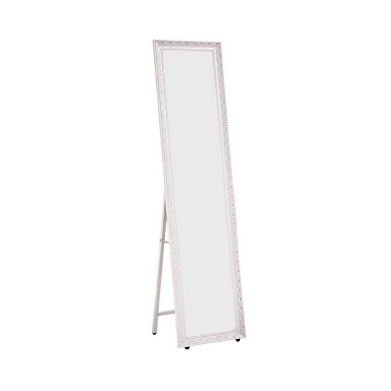 """Καθρέπτης δαπέδου """"MIRROR"""" σε χρώμα λευκό antique 37x2,50x146"""