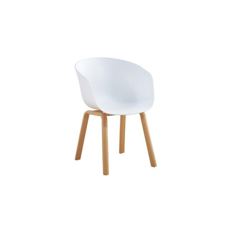 """Πολυθρόνα """"OPTIM"""" μεταλλική-pp σε λευκό χρώμα 56x55x78"""