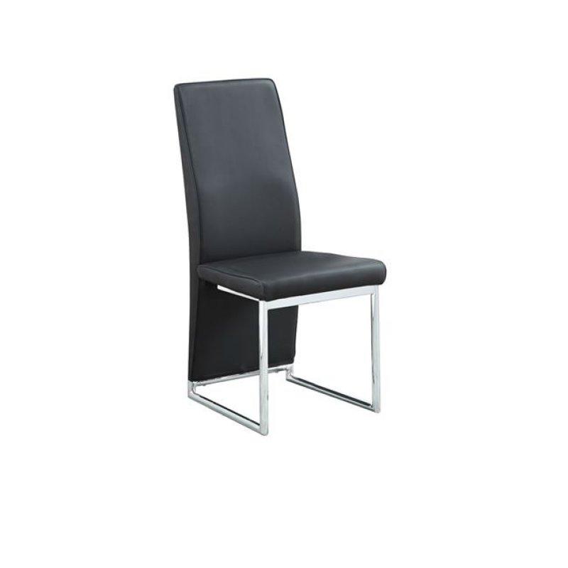 """Καρέκλα """"DEPOLY"""" χρωμίου-pu σε μαύρο χρώμα 43x57x99"""