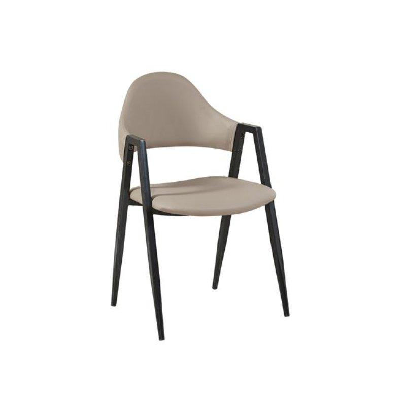 """Πολυθρόνα """"DELTA"""" μεταλλική-pvc σε cappuccino χρώμα 50x55x80"""