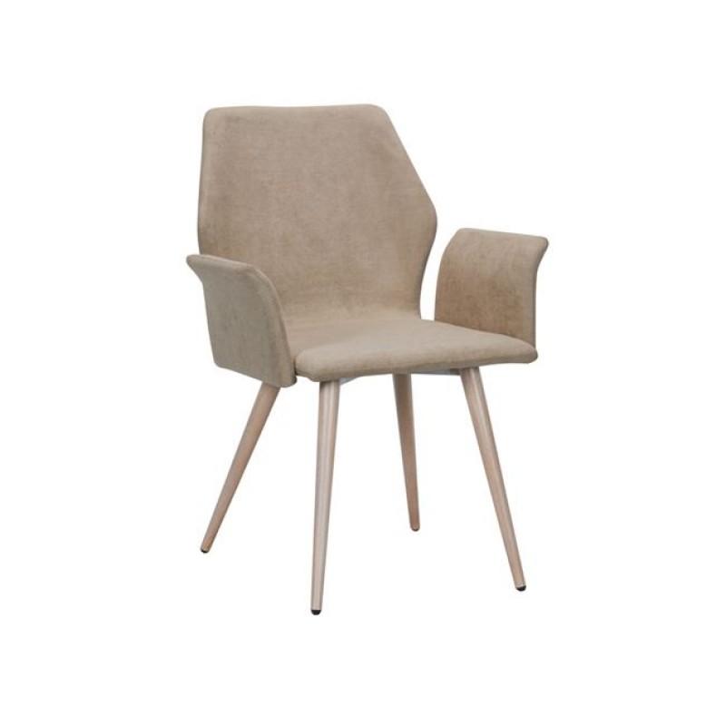 """Πολυθρόνα """"LETO"""" μεταλλική-υφασμάτινη σε καφέ χρώμα 60x62x84"""