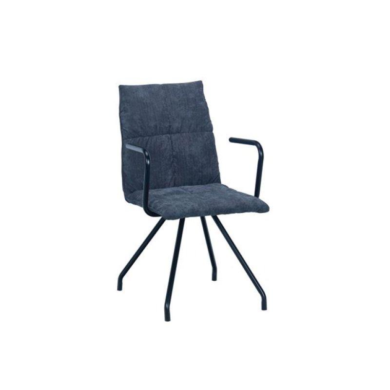 """Πολυθρόνα """"EXPO"""" μεταλλική-υφασμάτινη σε γκρι χρώμα 53x64x88"""