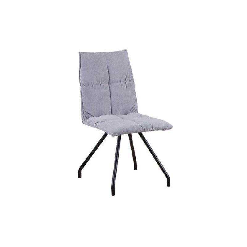 """Καρέκλα """"EXPO"""" μεταλλική-υφασμάτινη σε ανοιχτό γκρι χρώμα 47x64x88"""