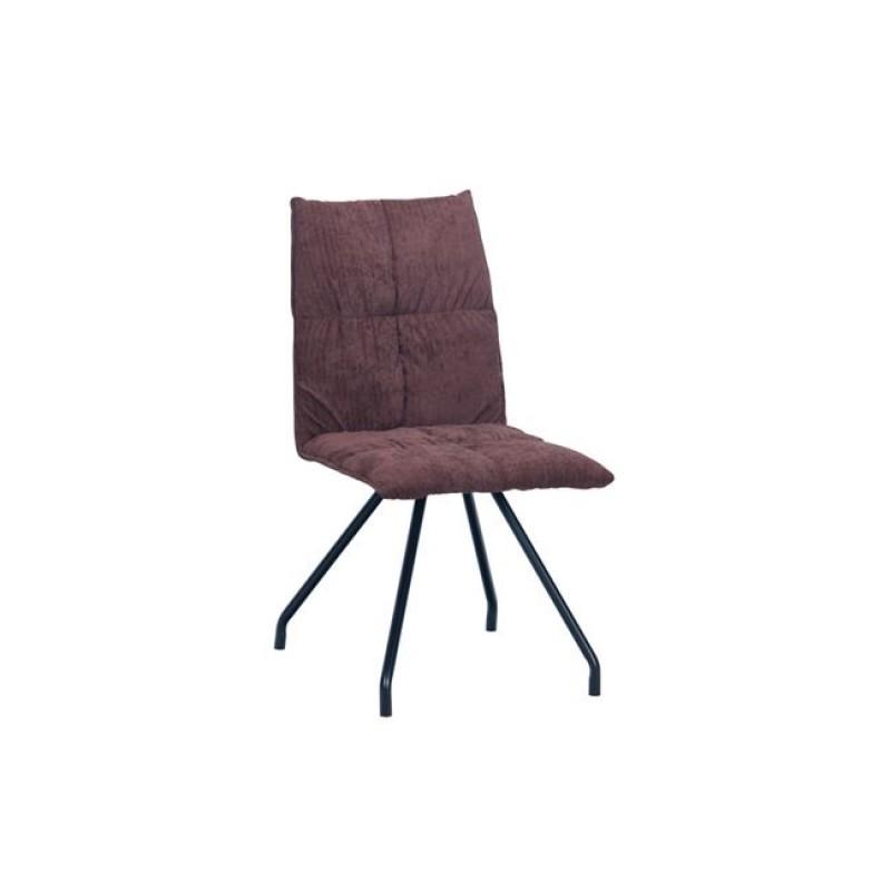 """Καρέκλα """"EXPO"""" μεταλλική-υφασμάτινη σε σκούρο καφέ χρώμα 47x64x88"""
