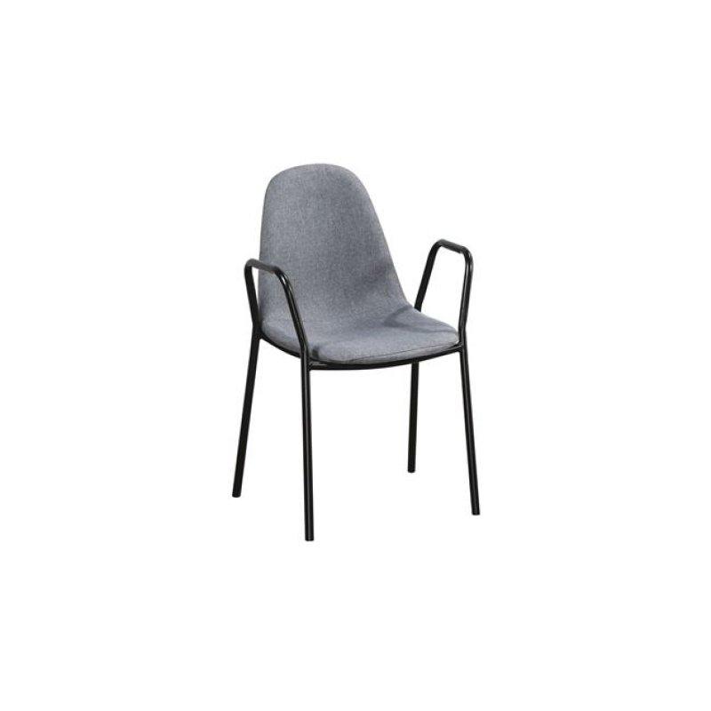 """Πολυθρόνα """"CELINA"""" μεταλλική-υφασμάτινη σε γκρι χρώμα 58x54x87"""