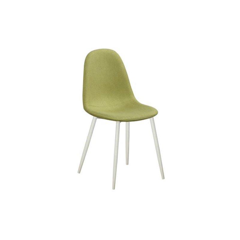 """Καρέκλα """"CELINA"""" μεταλλική-υφασμάτινη σε χρώμα lime 45x54x85"""