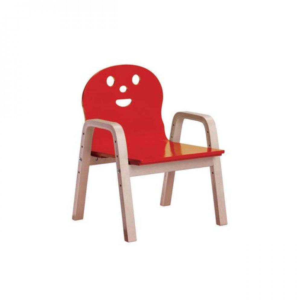 """Παιδική πολυθρόνα """"KID-FUN"""" σε κόκκινο χρώμα 38x36x56"""
