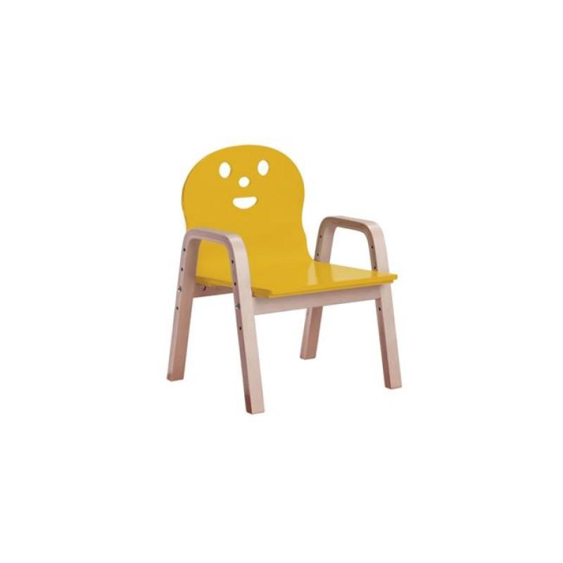 """Πολυθρόνα παιδική """"KID-FUN"""" σε χρώμα κίτρινο 38x36x56"""