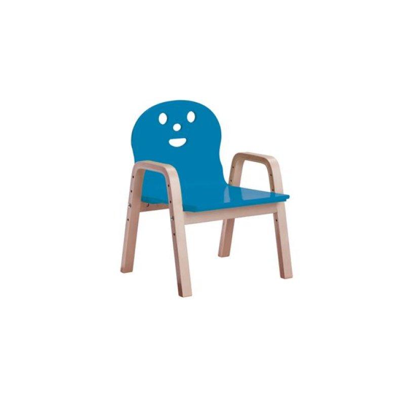 """Παιδική πολυθρόνα """"KID-FUN"""" σε χρώμα μπλέ 38x36x56"""
