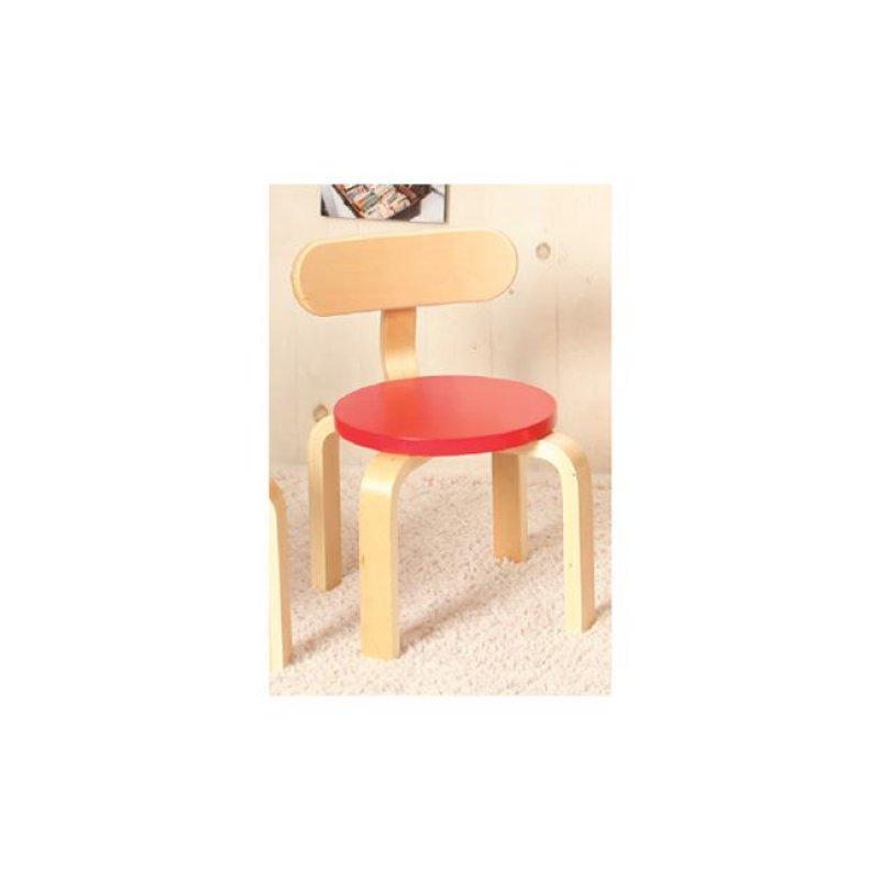 """Παιδική καρέκλα """"KID-FUN"""" σε κόκκινο χρώμα 36x42"""
