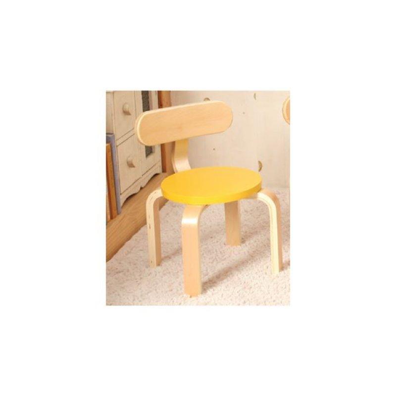 """Παιδική καρέκλα """"KID-FUN"""" σε κίτρινο χρώμα 26x42"""