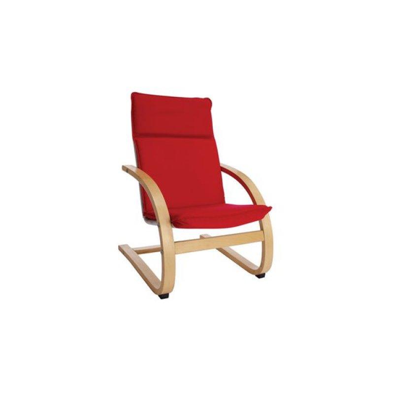 """Παιδική πολυθρόνα """"KID-HAMILTON"""" relax υφασμάτινη σε κόκκινο χρώμα 44x50x65"""
