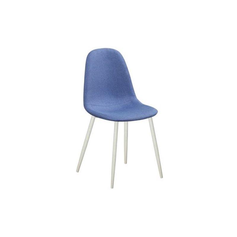 """Καρέκλα """"CELINA"""" μεταλλική-υφασμάτινη σε μπλε χρώμα 45x54x85"""