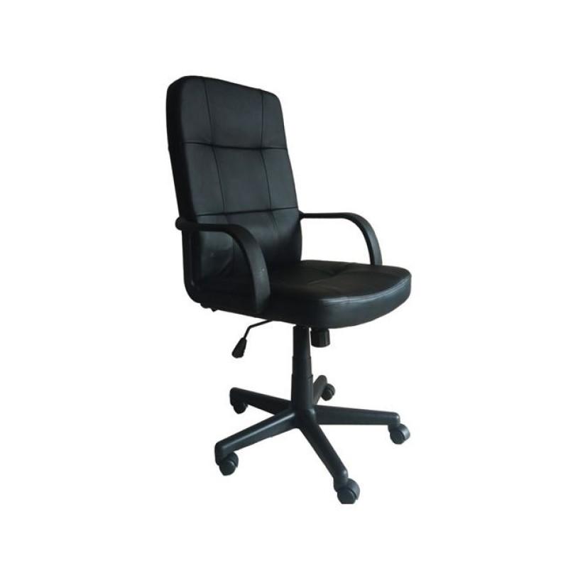 """Πολυθρόνα διευθυντή """"BF1000"""" από τεχνόδερμα σε μαύρο χρώμα 61x64x104/114"""