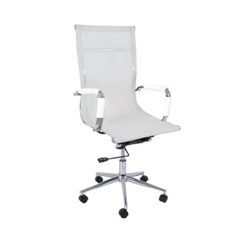 """Πολυθρόνα διευθυντή """"BF3200"""" από mesh σε λευκό χρώμα 55x63x108/116"""