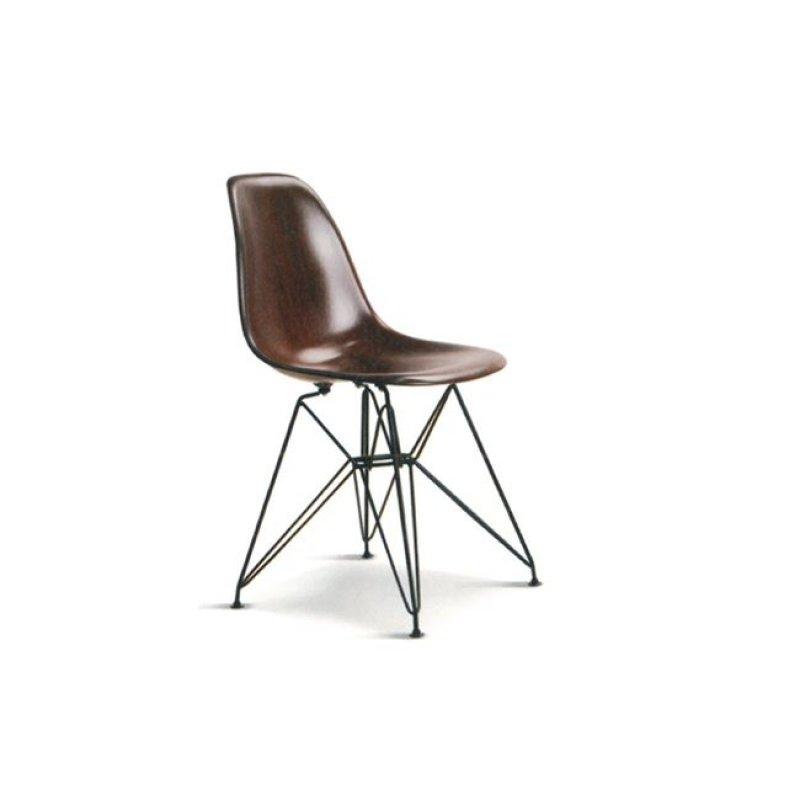 """Καρέκλα """"ART"""" μεταλλιλή-abs σε χρώμα καρυδί 46x53x82"""