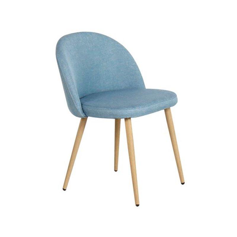 """Καρέκλα """"BELLA"""" μεταλλική-υφασμάτινη σε χρώμα light blue 45x53x77"""