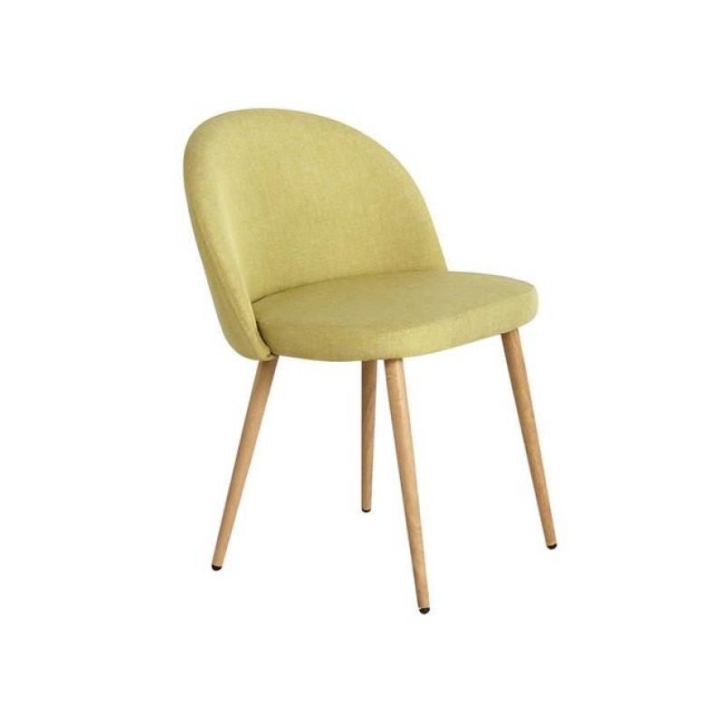 """Καρέκλα """"BELLA"""" μεταλλική-υφασμάτινη σε χρώμα lime 45x53x77"""