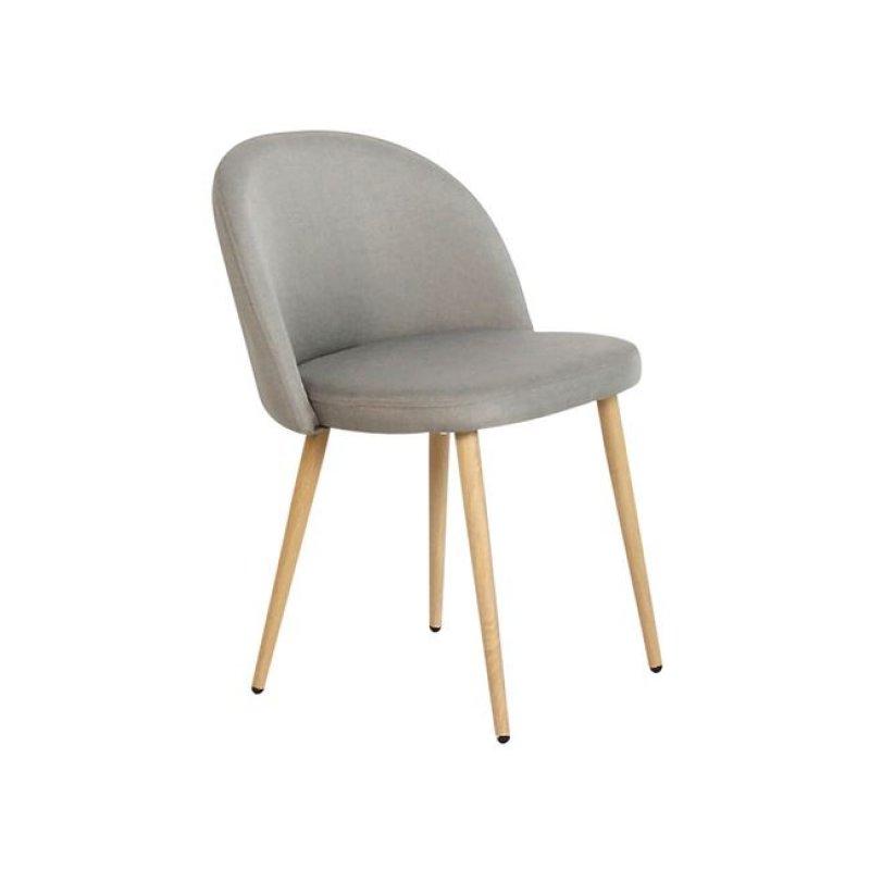"""Καρέκλα """"BELLA"""" μεταλλική-υφασμάτινη σε χρώμα γκρι 45x53x77"""
