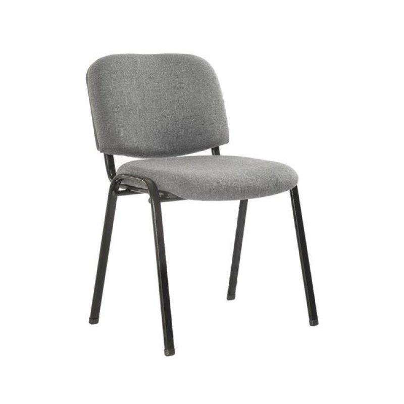 """Καρέκλα επισκέπτη στοιβαζόμενη """"SIGMA"""" από ύφασμα σε γκρι χρώμα 52x54x79"""