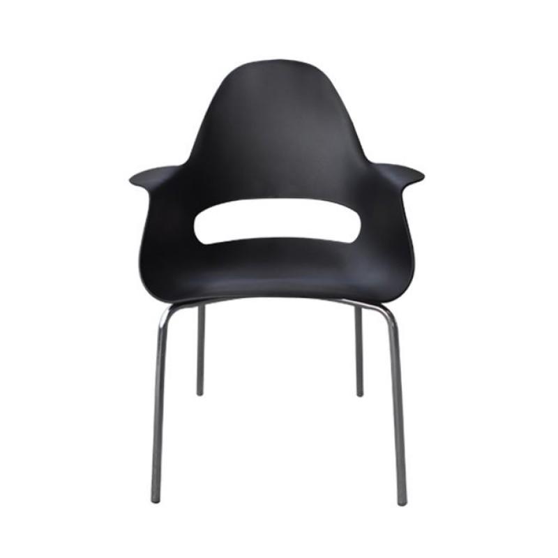 """Πολυθρόνα """"TRAVEL"""" χρωμίου-pp σε χρώμα μαύρο 61x74x86"""
