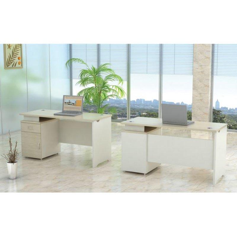 """Γραφείο """"PLANET"""" σε χρώμα σημύδα-λευκό 140x60x75"""
