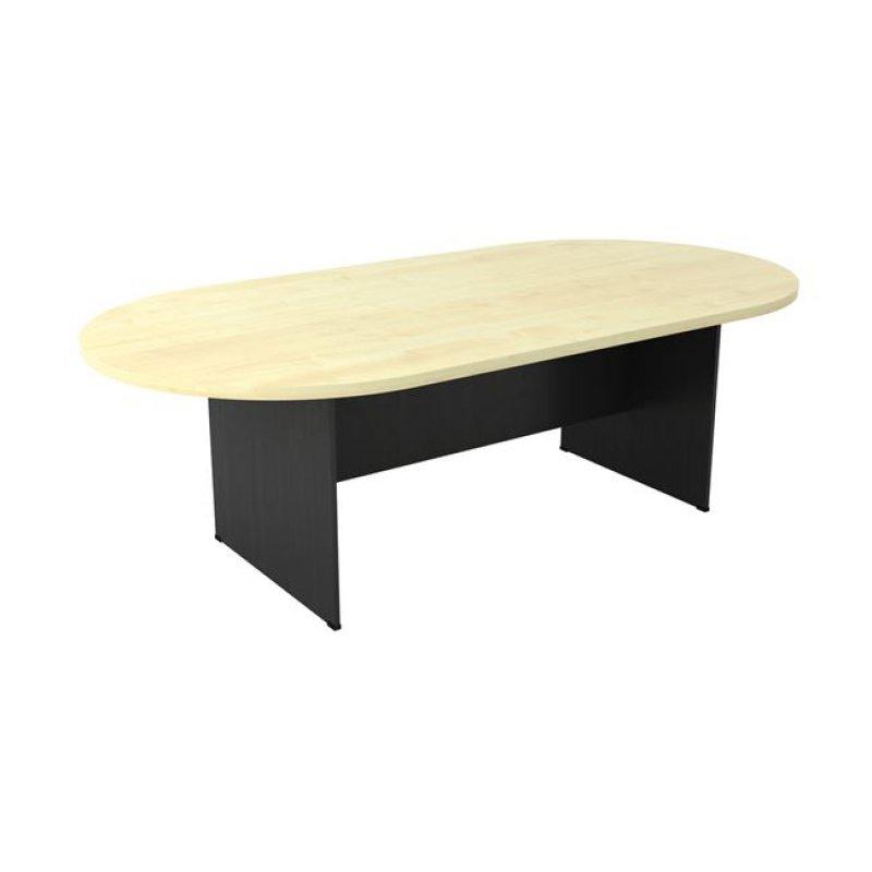 Τραπέζι συνεδρίου οβάλ σε χρώμα σκούρο γκρι-οξυά 240x120x75