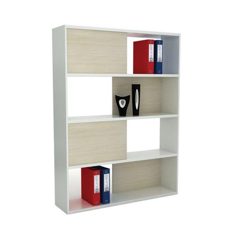 """Βιβλιοθήκη """"PLANET"""" σε απόχρωση σημύδας-λευκό 120x30x161"""