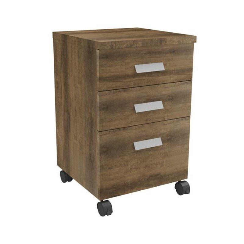 """Συρταριέρα """"ALPINE"""" σε καφέ-δρυς χρώμα 40x40x65"""