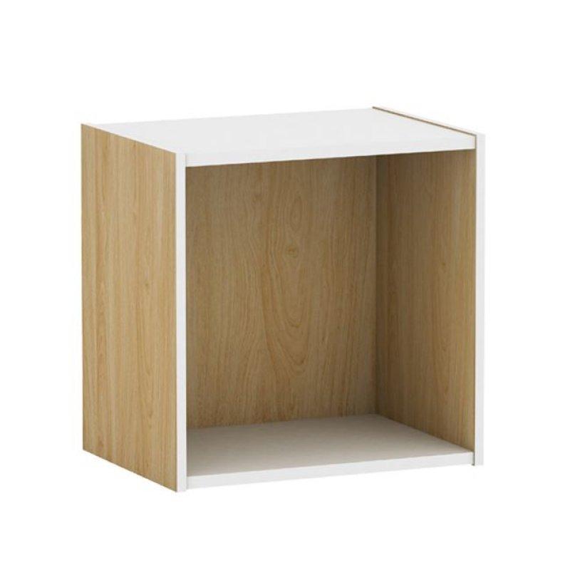 """Ντουλάπι-κουτί """"DECON"""" σε απόχρωση σημύδας-λευκό 40x29x40"""