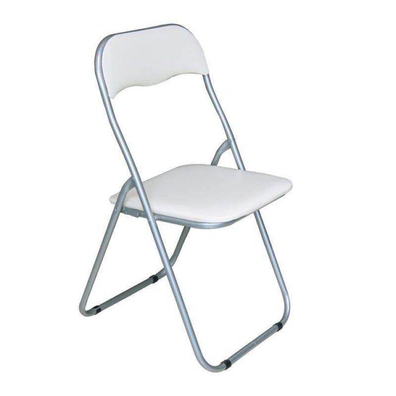 """Καρέκλα """"LINDA"""" μεταλλική-pvc σε λευκό χρώμα 44x45x79"""