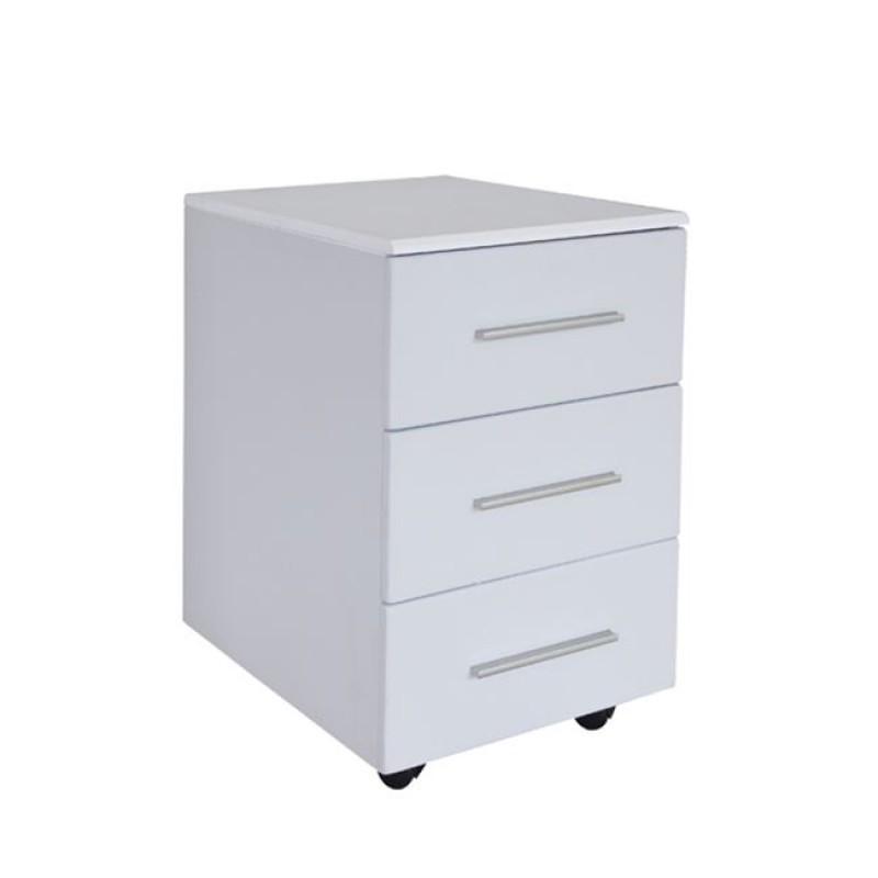 Συρταριέρα γραφείου σε χρώμα λευκό 40x54x63