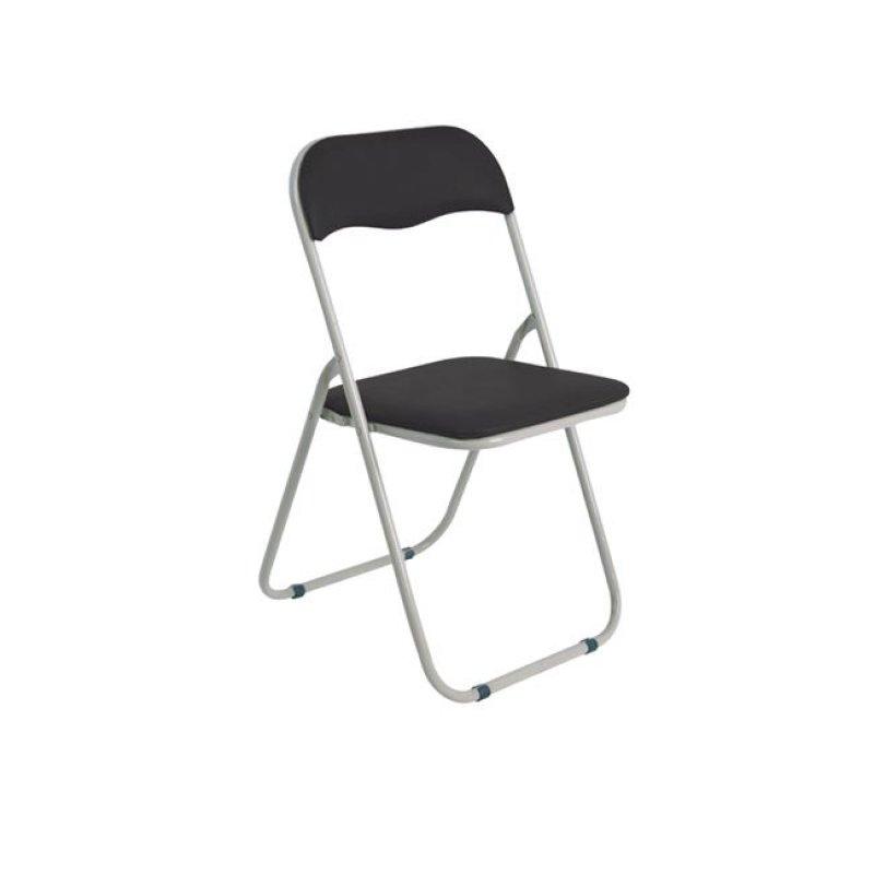 """Καρέκλα """"LINDA"""" μεταλλική-τεχνόδερμα σε μαύρο χρώμα 44x45x79"""