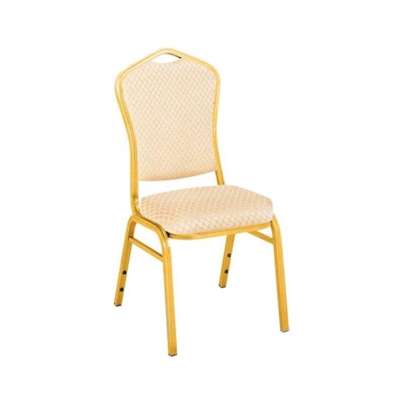 """Καρέκλα """"HILTON"""" αλουμινίου-υφασμάτινη σε μπεζ χρώμα 45x54x93"""